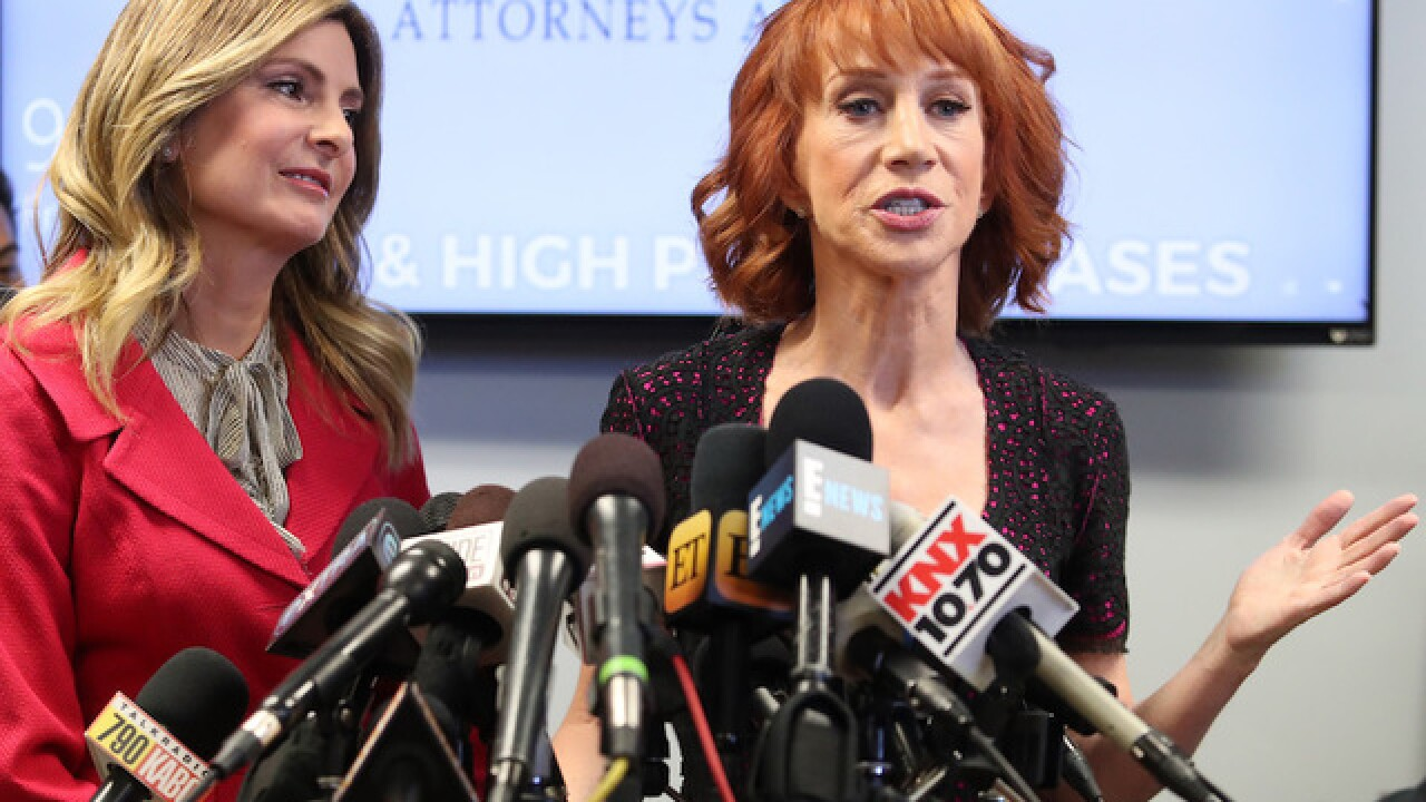 Kathy Griffin says Trump is 'trying to ruin my life' after photo scandal