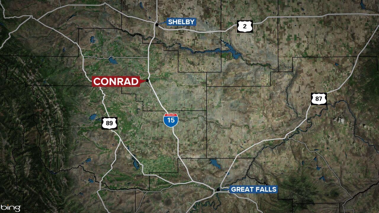 Conrad Montana map