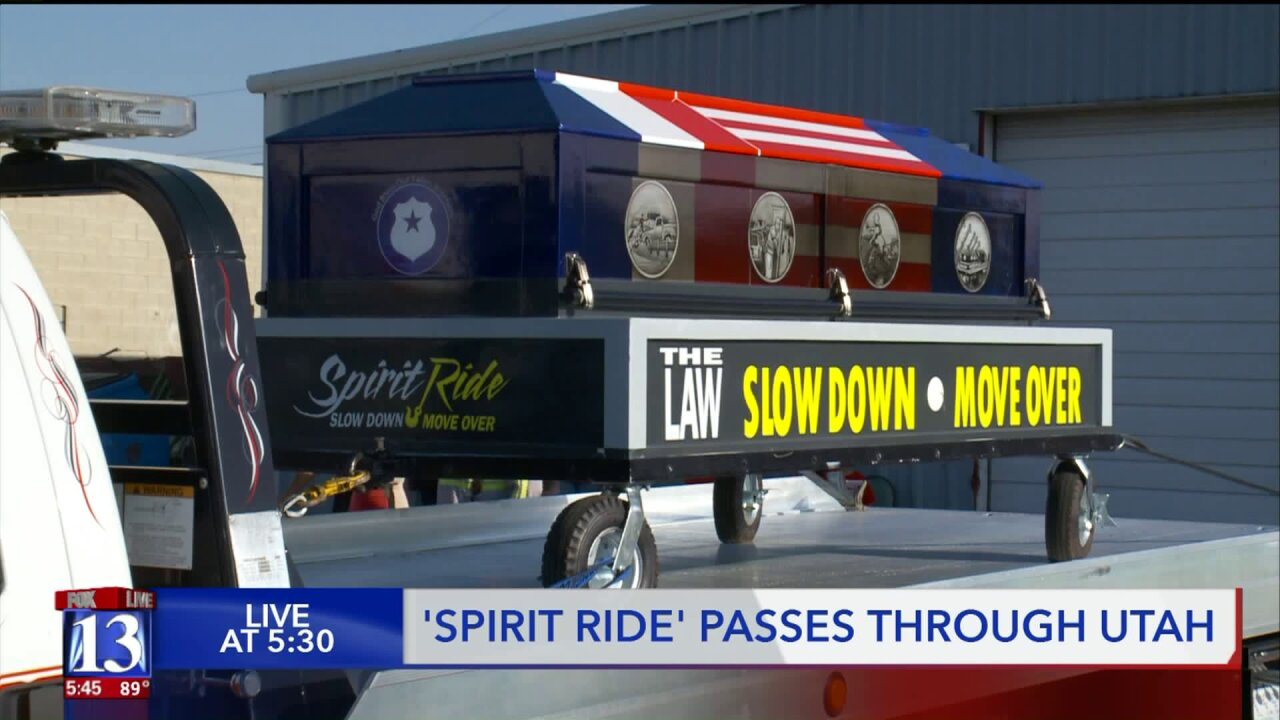 'Spirit Ride' rolls into Salt Lake City reminding drivers to slow down and move over