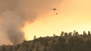 Falling Star fire burns between 500-1,000 acres north of Park City Sunday