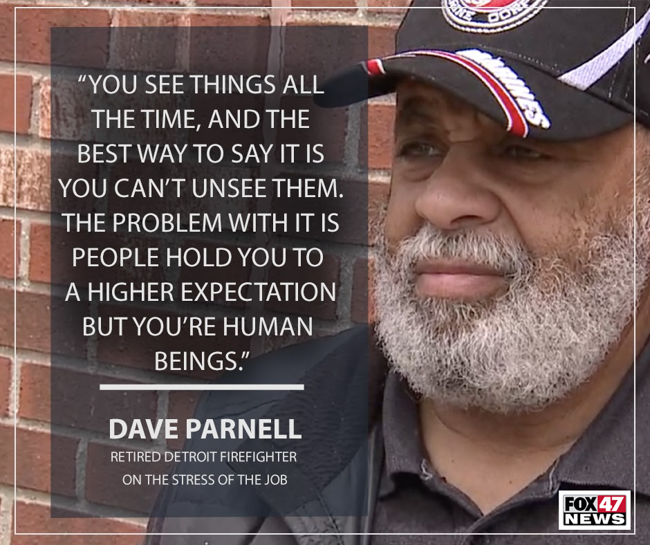 Dave Parnell, a retired senior engine operator, and firefighter