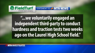 Synthetic turf company addresses safety at Laurel High's football field after MTN Investigates story airs