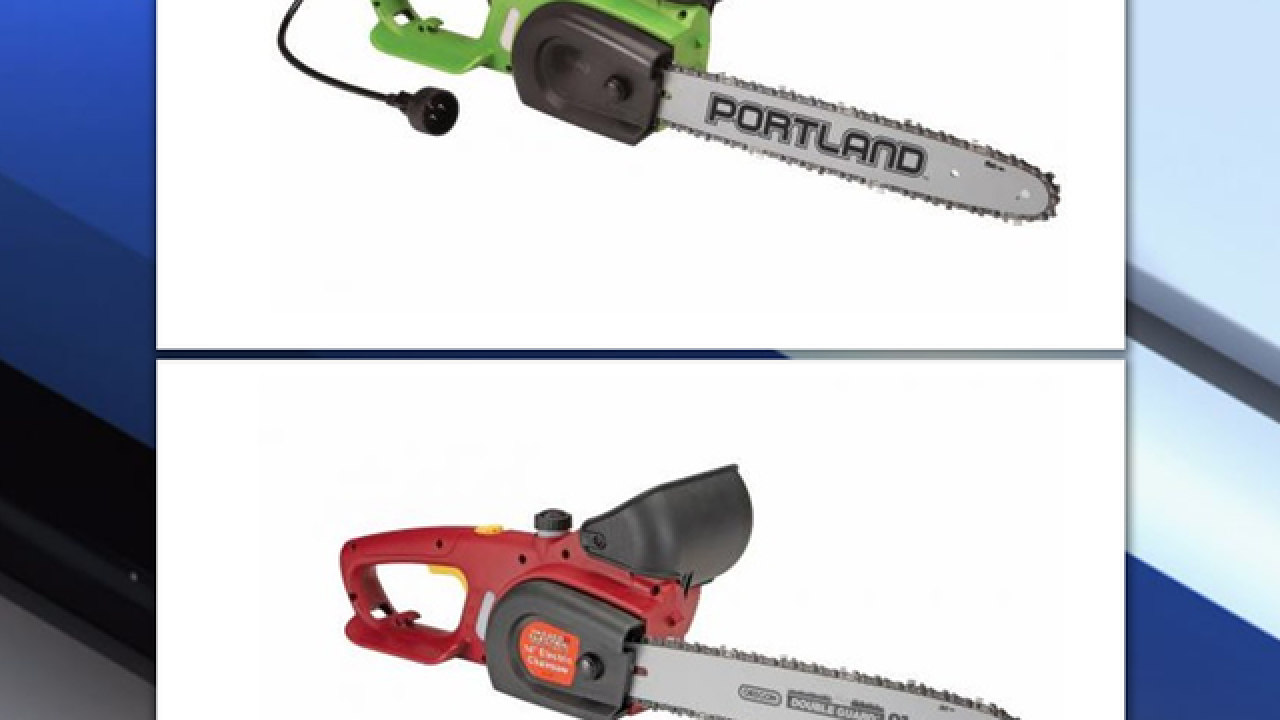 More than 1M chainsaws recalled from Harbor Freight Tools due to power switch malfunction