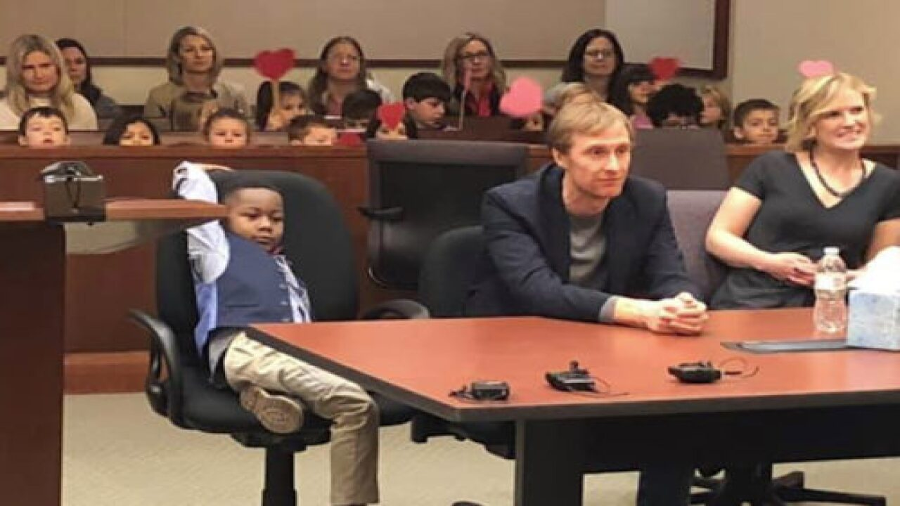 This Sweet Boy Invited His Entire Kindergarten Class To His Adoption Hearing