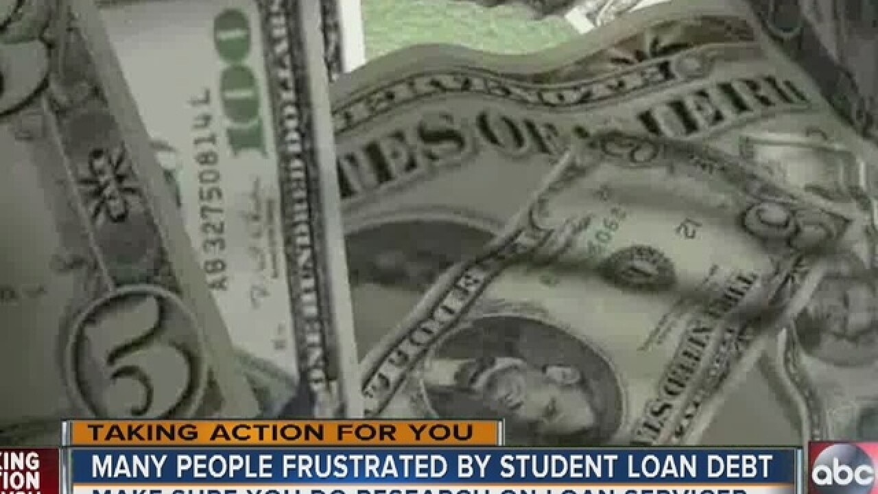 TAKING ACTION: Help paying student loans