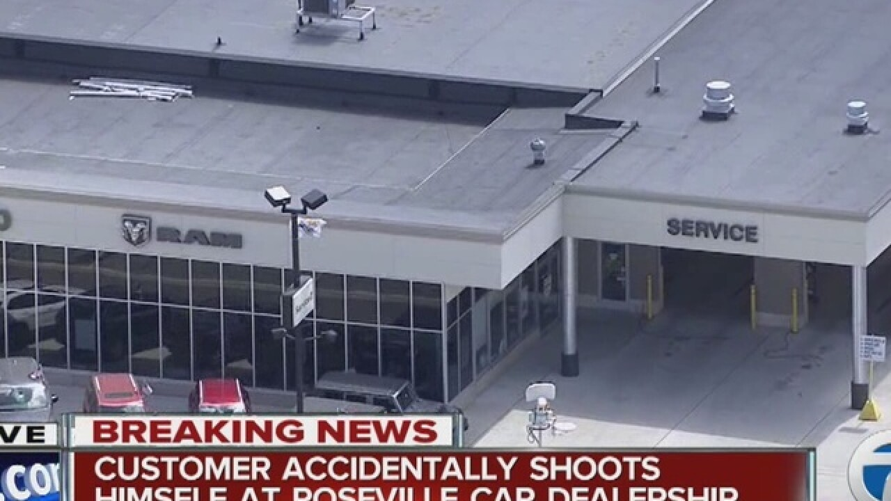 Man accidentally shoots himself at dealership