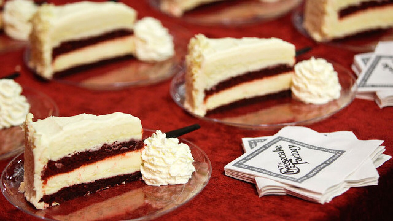 Half price on any slice at Cheesecake Factory