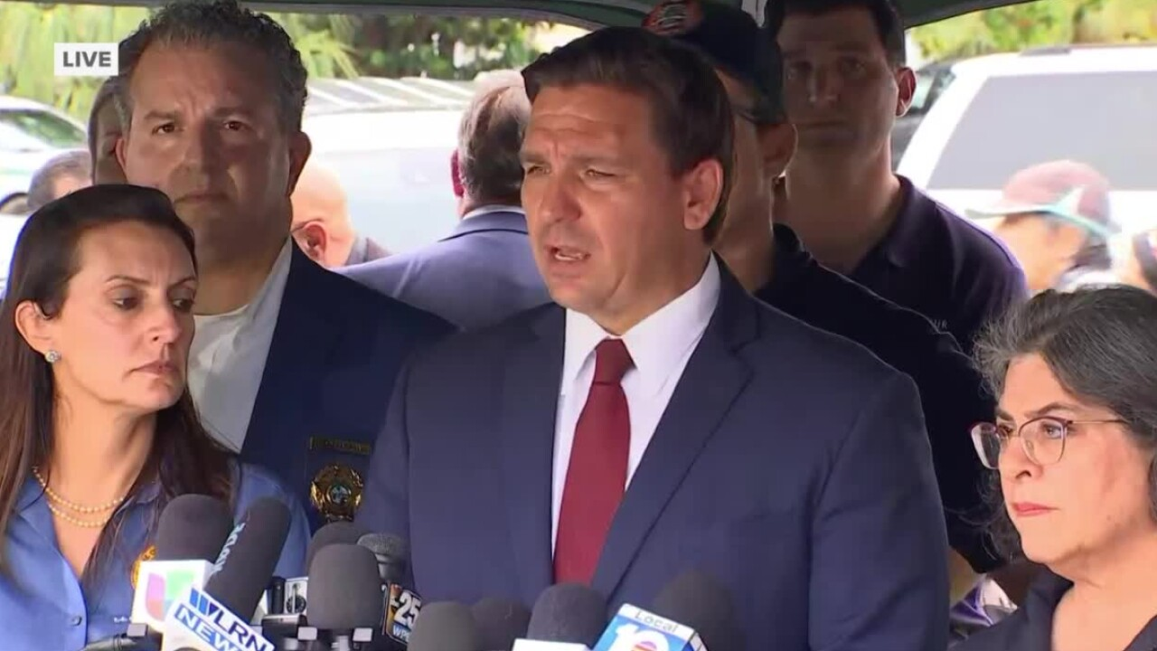 Florida Gov. Ron DeSantis holds a news conference about a deadly condo collapse in Surfside on June 24, 2021.jpg