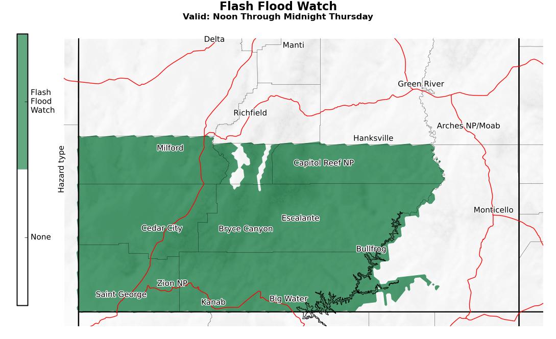 Flash Flood map 7-15
