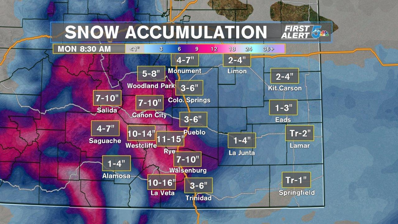 Accumulating snowfall