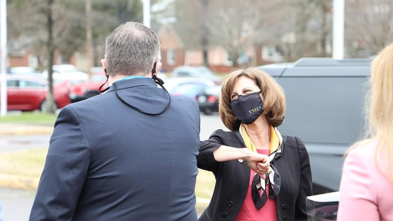 Pam Northam visits Oscar Smith Middle School (March 18).jpg
