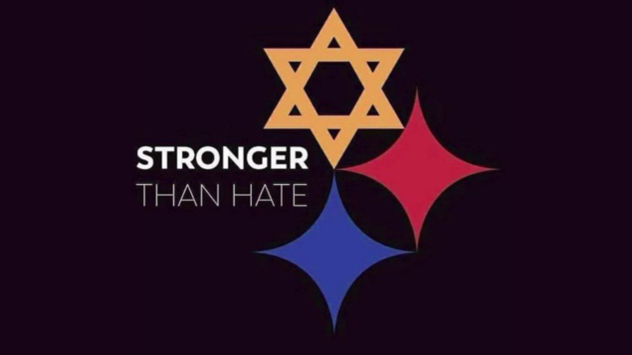 Design based on Steelers logo sends 'Stronger than Hate' message