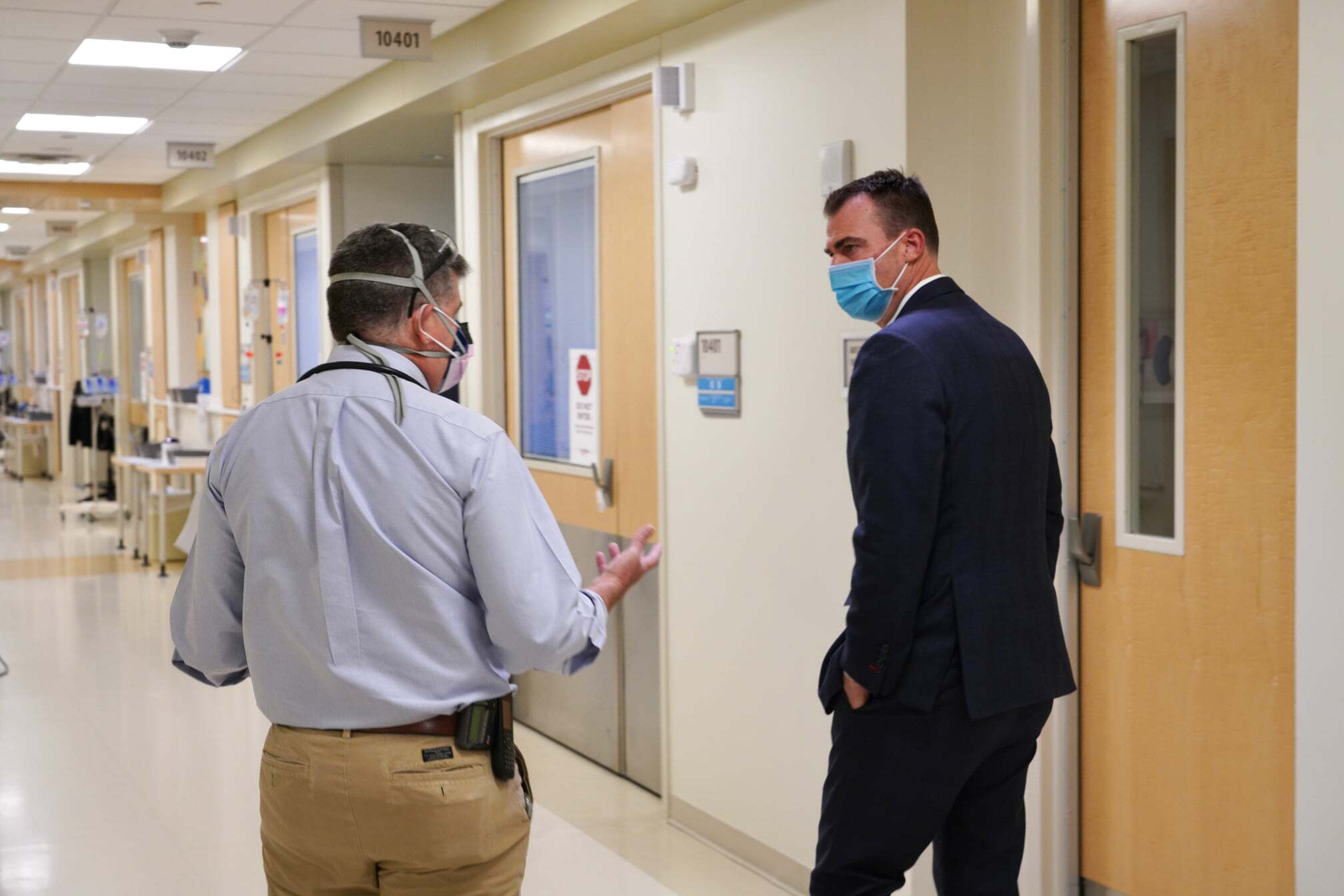 Stitt visits Saint Francis Health Systems amid pandemic