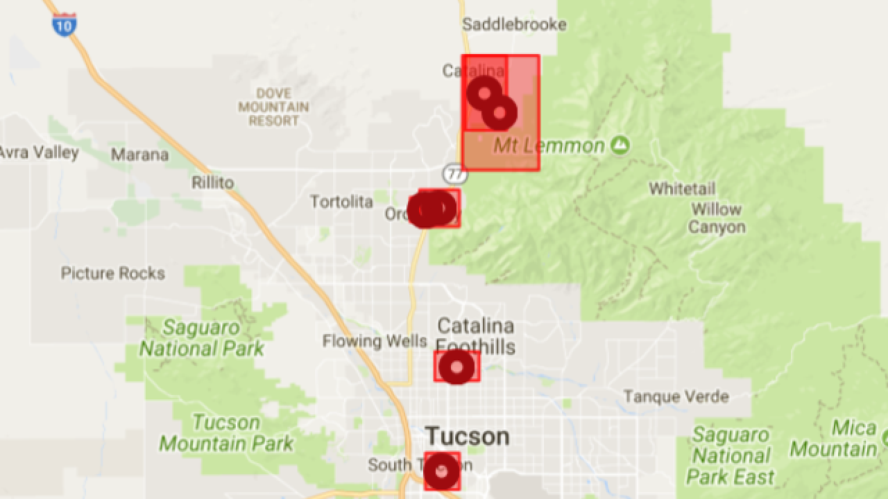Tep Investigating Power Outages Across Tucson Saturday Night