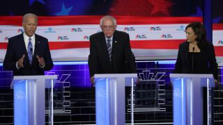 Harris, Warren surge in poll, Biden drops following contentious debate