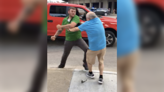 Video: Man charged with assault after punching protester at Trump rally in Cincinnati