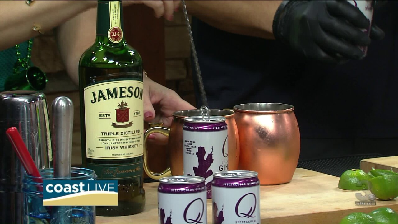 Learning to make fresh-pressed Irish Mules for St Paddy's Day on Coast Live
