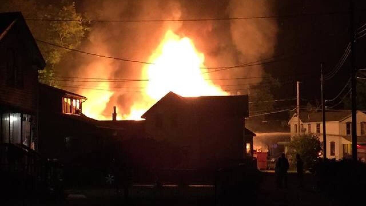 Three homes damaged in Dunkirk fire