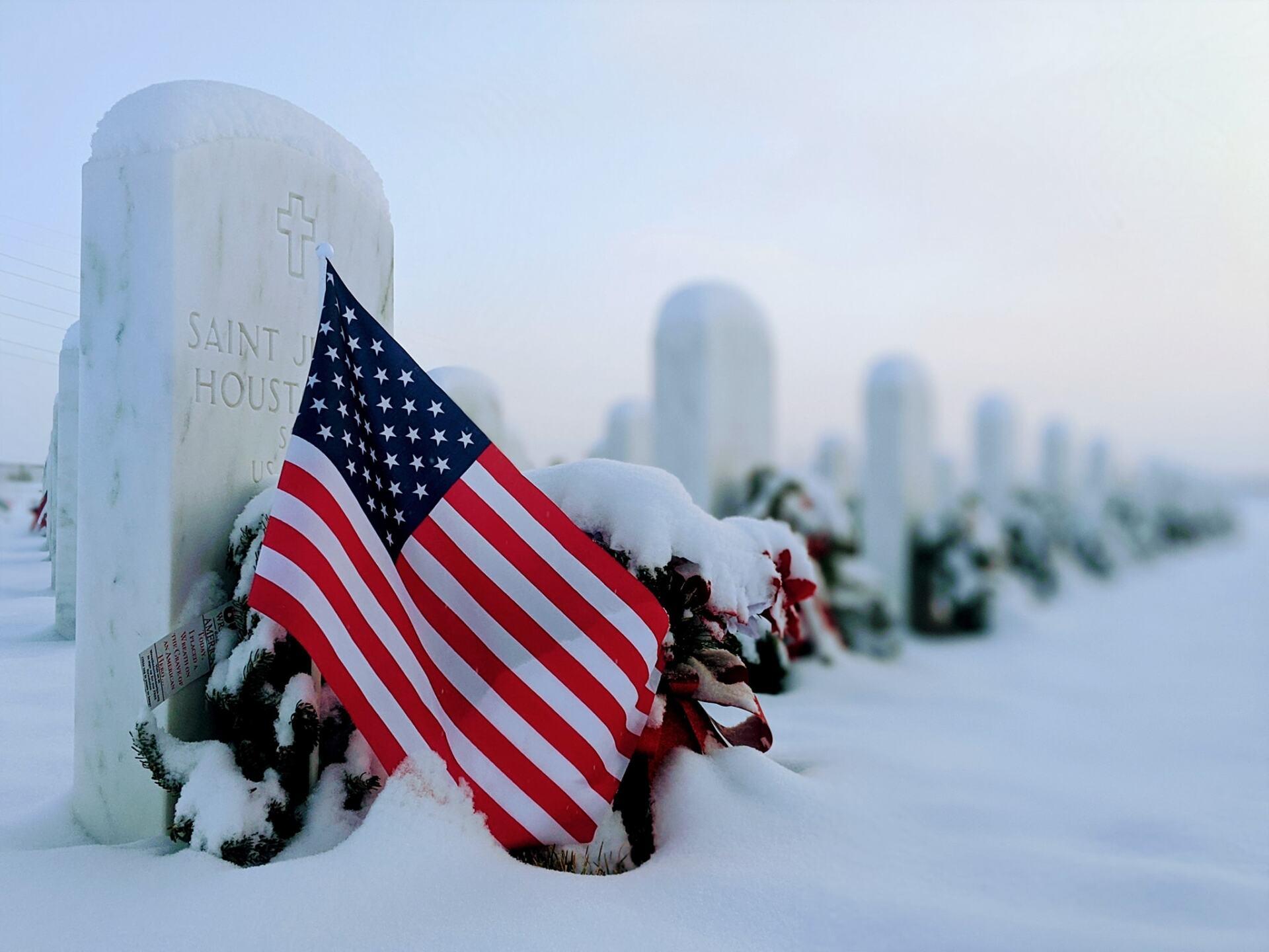 Pikes Peak National Cemetery in Winter
