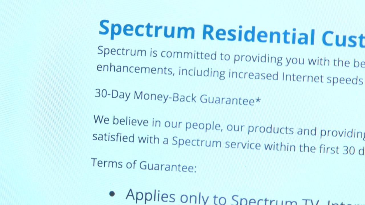 Spectrum money back