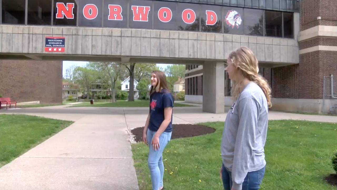 Norwood High School senior students