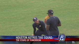 Astros' taxi squad begins work at Whataburger Field