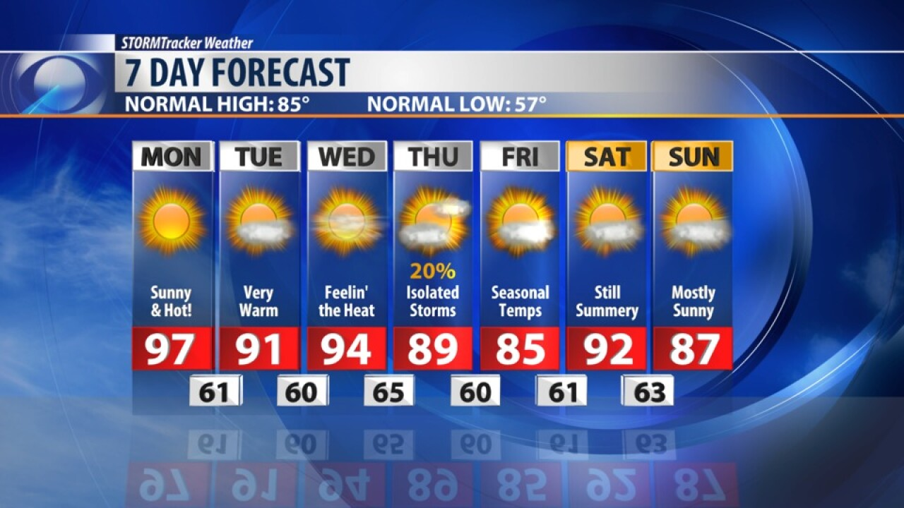 7 DAY FORECAST AUGUST 19, 2019