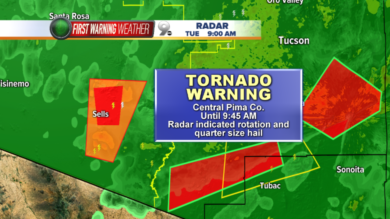 Tornado Warning Pima County