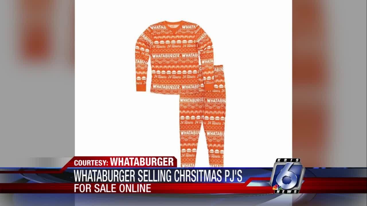 Whataburger 2020 holiday pajamas