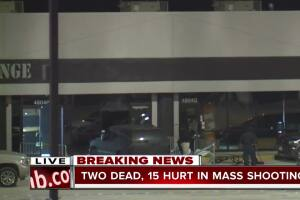 2 dead, 15 hurt in mass shooting