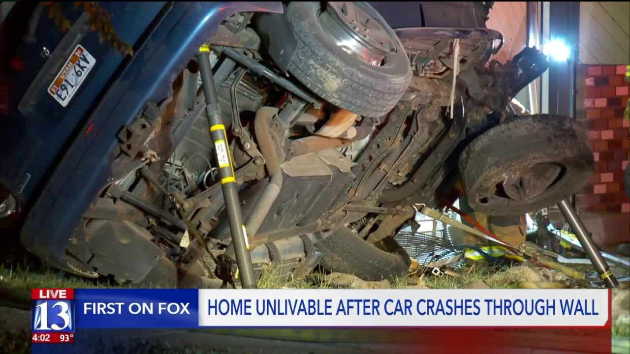 Man recovering after rolling SUV into home inMagna