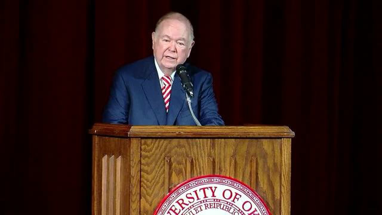 OU President David L. Boren to make announcement
