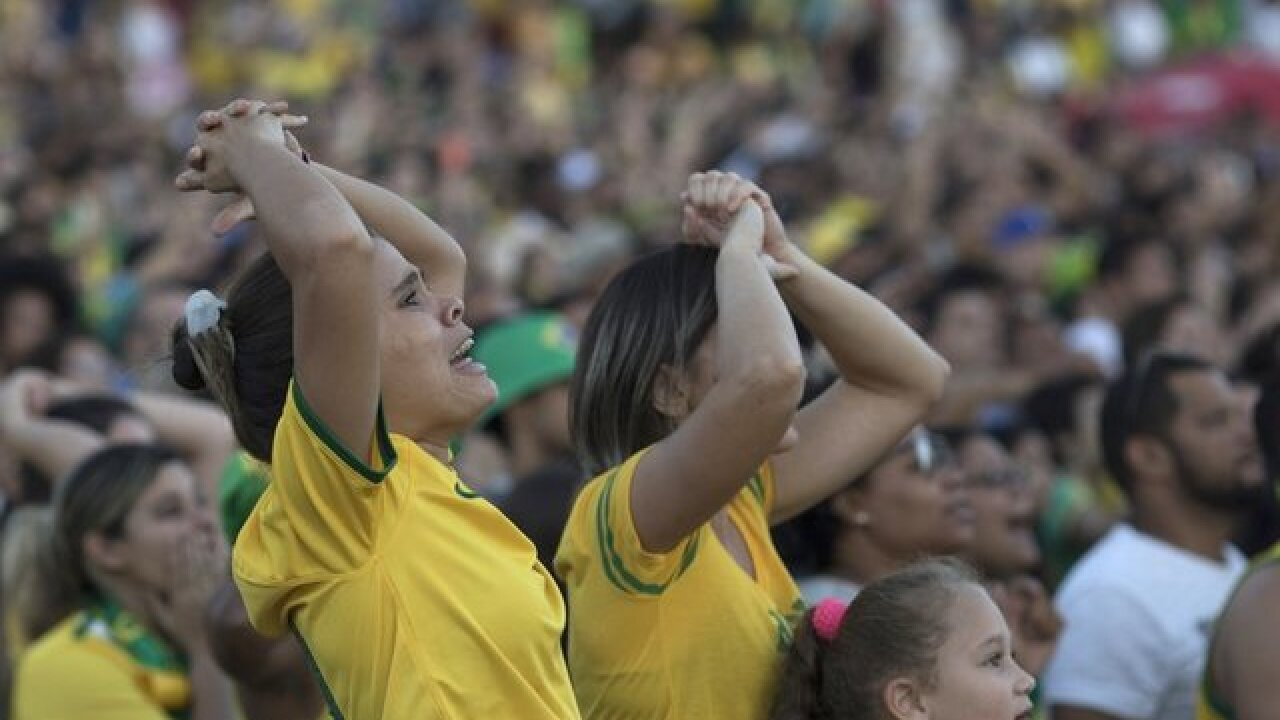 Brazilians disappointed after 1-1 tie at World Cup