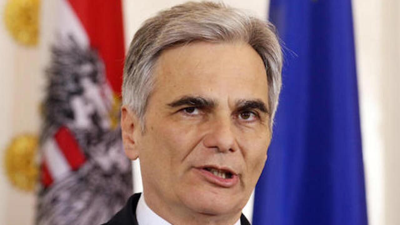 Austrian Chancellor Faymann resigns, citing lack of support