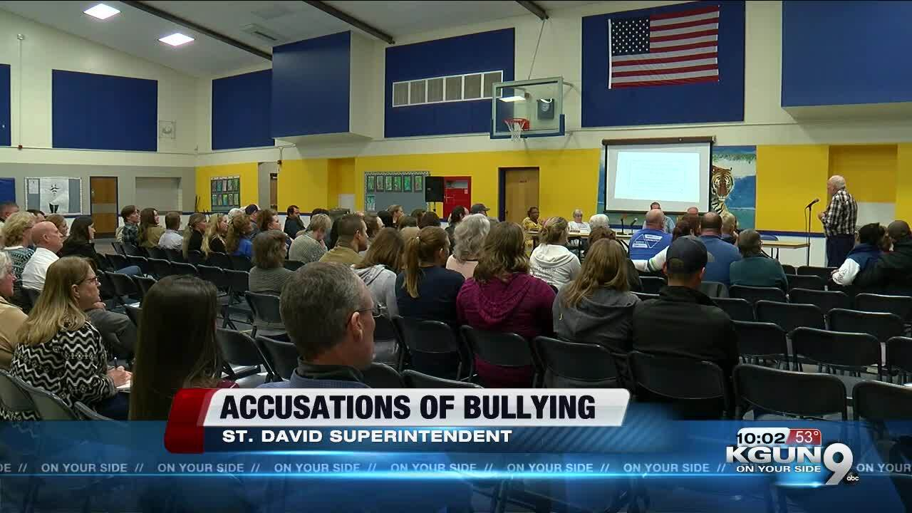 St. David Superintendent accused of bullying