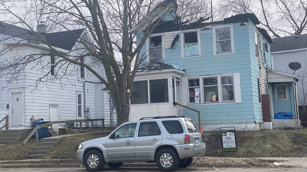 Burned house listed for $75,000