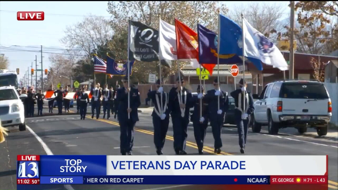 Veterans Day parade in Magna honors those who served their country