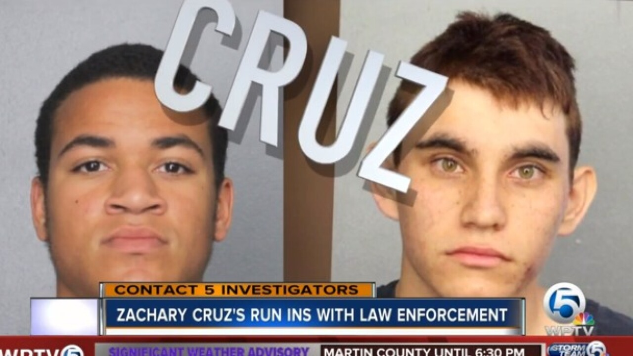 Nikolas Cruz, Zachary Cruz share more than a rap sheet in Broward, Palm Beach County