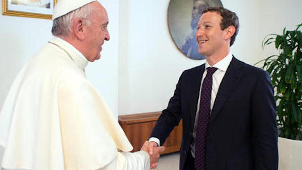 Pope Francis meets with Facebook CEO Zuckerberg