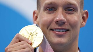 Abrahamson: Caeleb Dressel wins Olympics with tear-jerking video call after gold