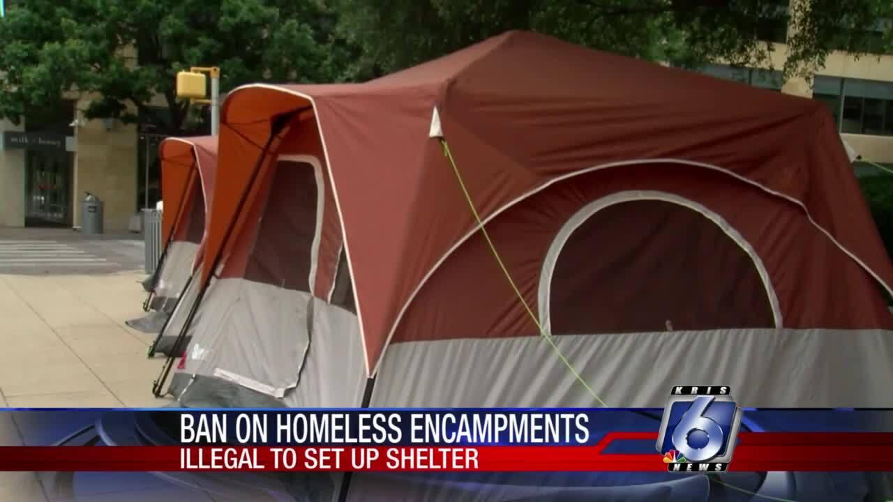Ban on Texas homeless encampments
