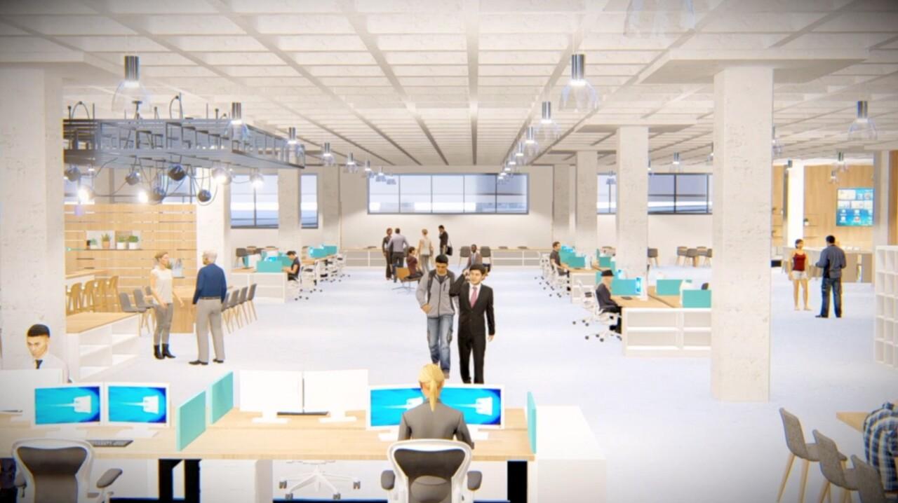Rendering of M&T Bank Technology hub at Seneca One