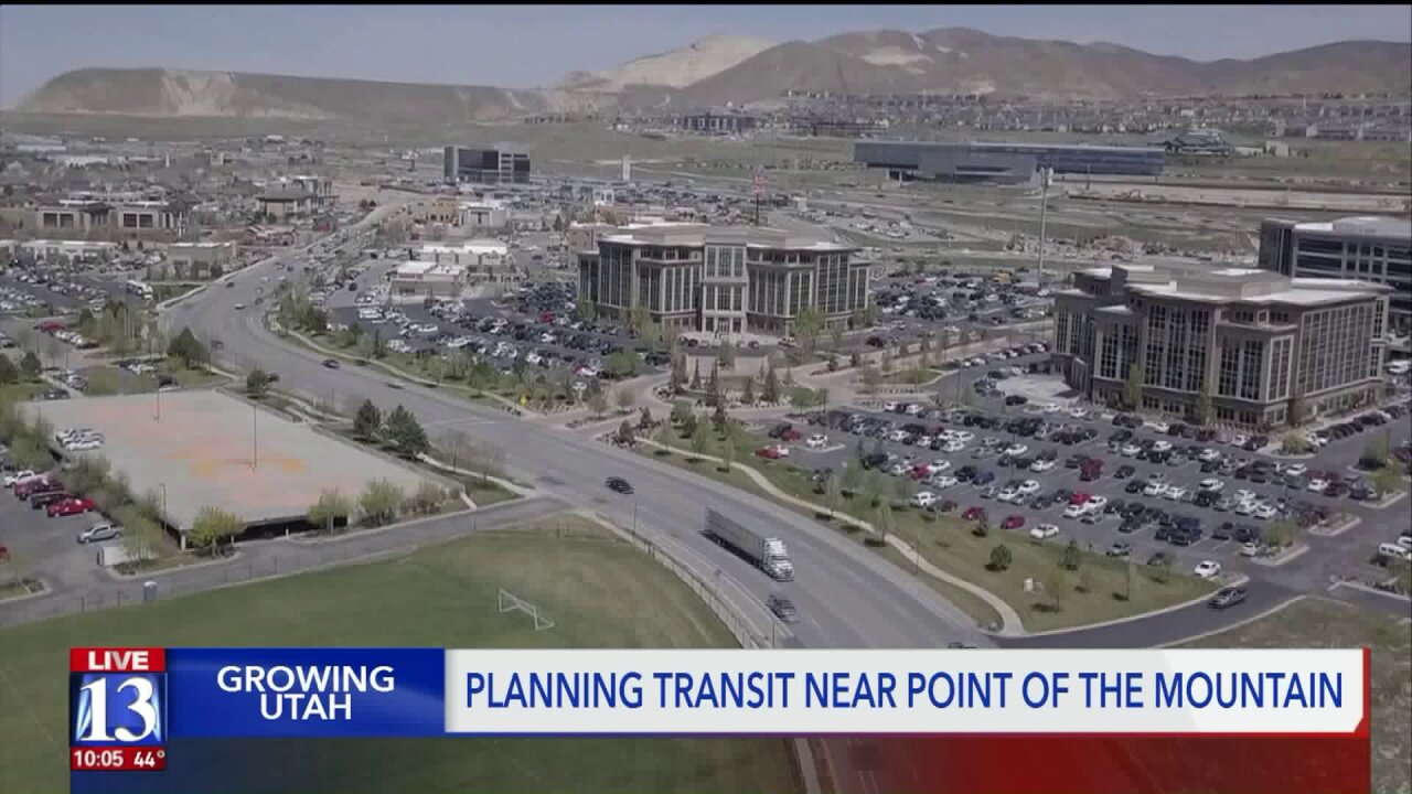 Tired of traffic at Point of the Mountain? UTA hopes to help