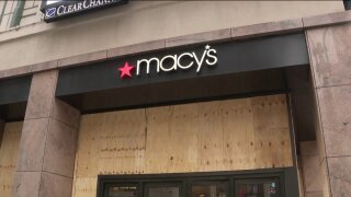 Famous NYC Macy's at Herald Square boarded up ahead of Election Day
