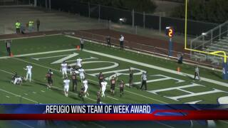 Refugio earns this week's Friday Night Fever Team of the Week