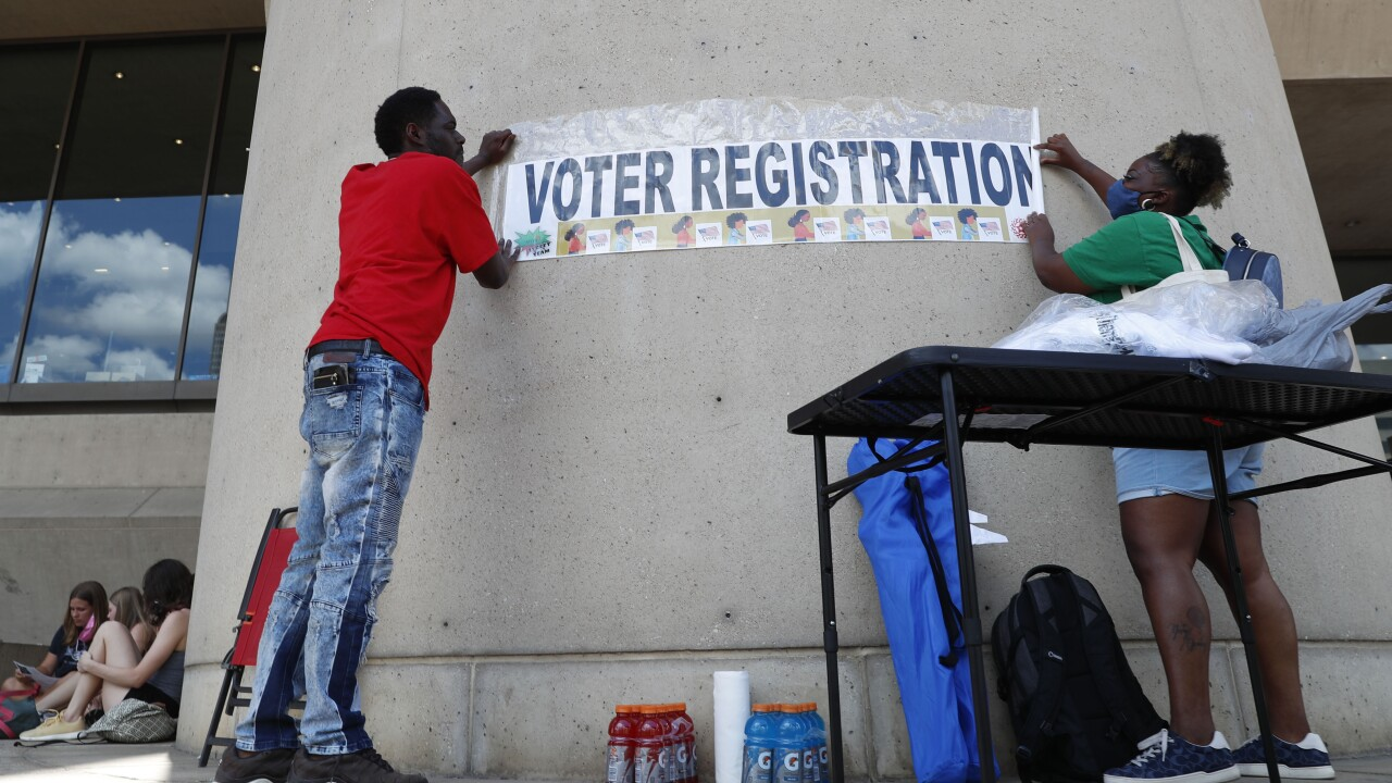 Monday is last day to register to vote in several states