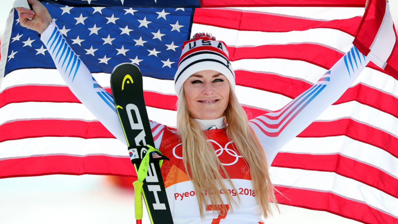 Lindsey Vonn scatters grandfather's ashes in South Korea