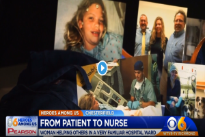 She overcame 6 brain surgeries and exchanged her hospital gown for scrubs