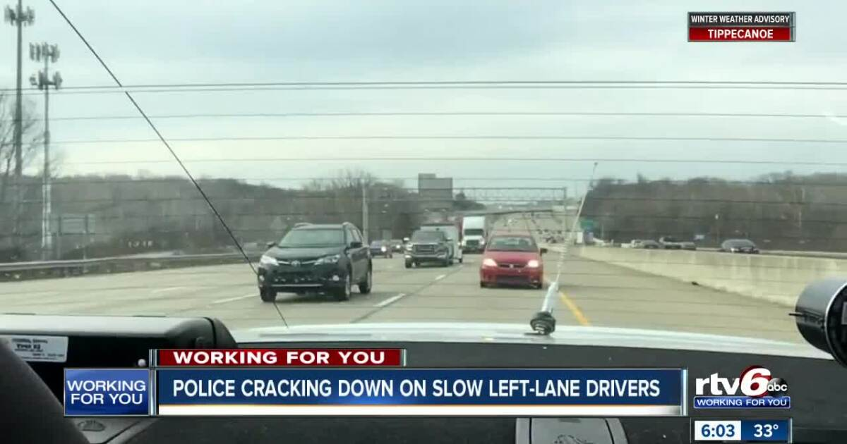Police cracking down on slow left-lane drivers