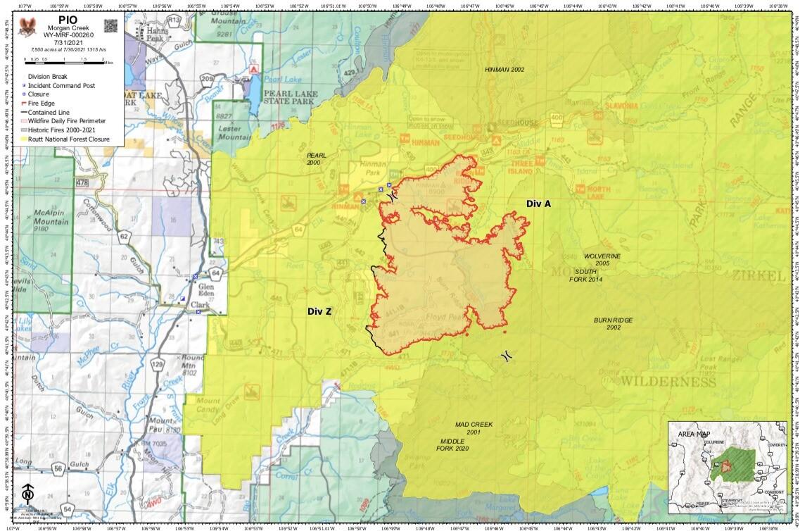 Morgan Creek Fire update July 31 2021